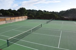 The fitness center boasts two fantastic tennis courts. Private instruction is available upon  request.